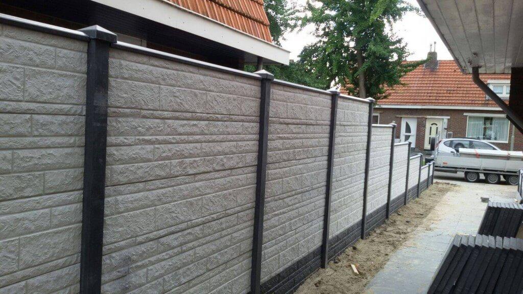 Luxe betonnen erfafscheiding