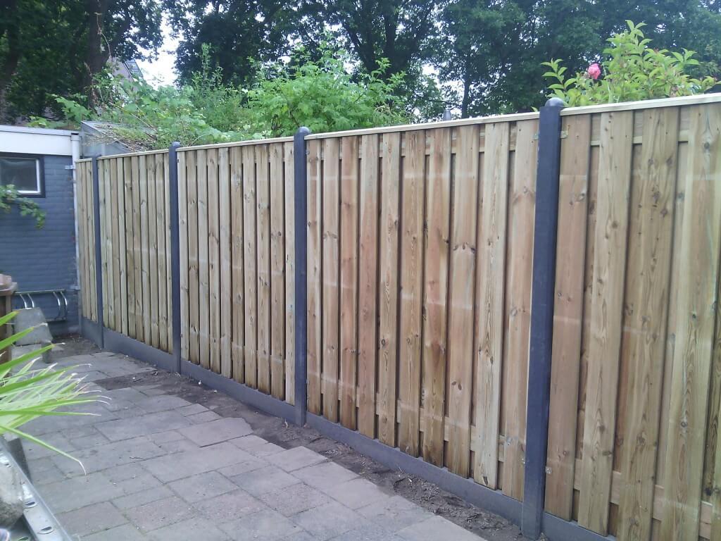 Standaard hout beton erfafscheiding antraciet